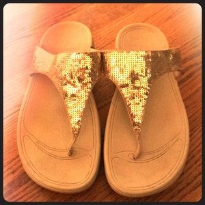 Fitflops gold sequins.